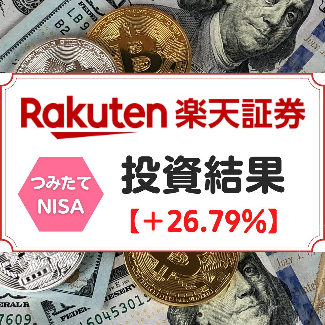 楽天証券つみたてNISA投資成績