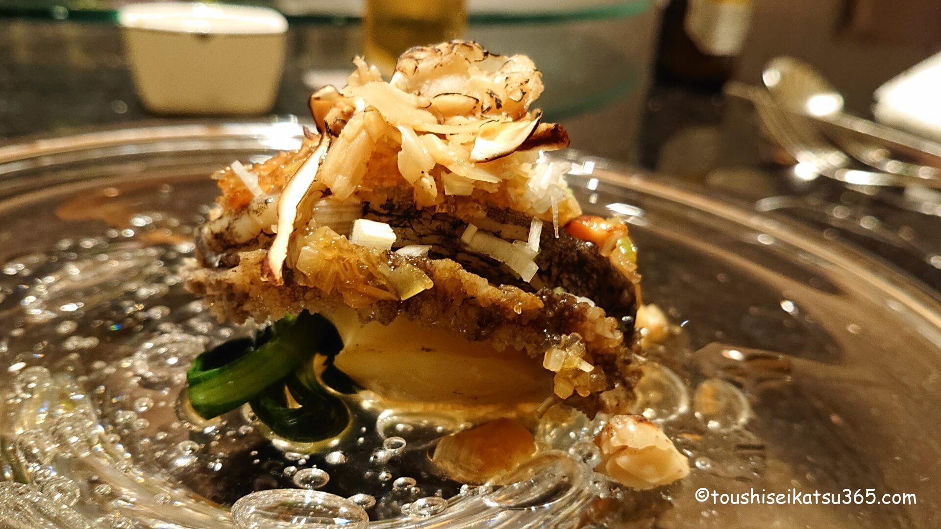 中国料理「翆陽」 まるごと鮑の柔らか蒸し 松茸の香り